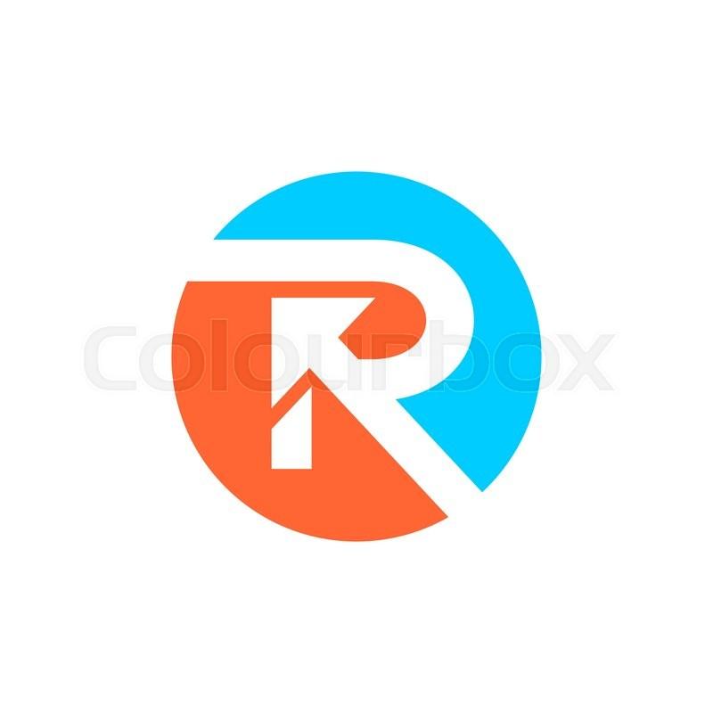 Letter R Logo Design Stock Vector Colourbox Logo Design Free Letter Logo Design Free Logo Templates
