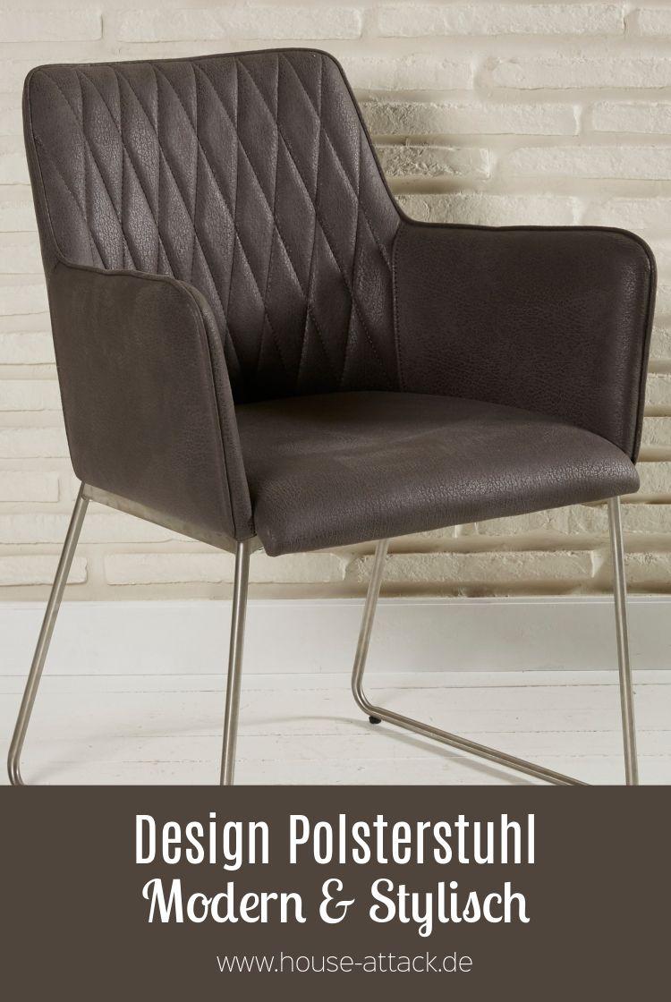 Lederimitat Lounge Polsterstuhl Design braun Sessel Stühle txQshrdC