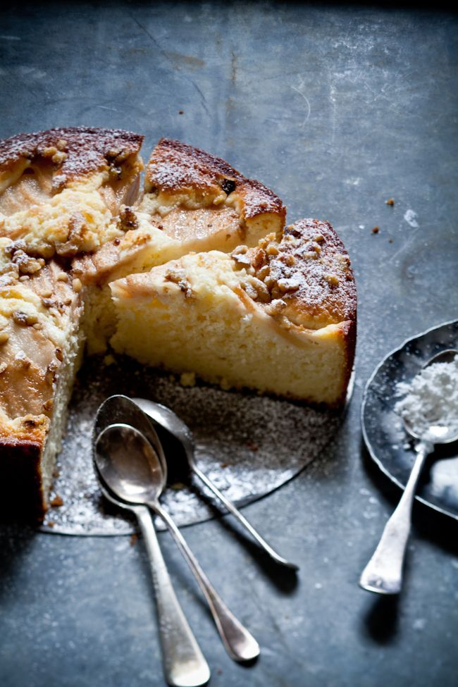 GF Pear Walnut Cake  2 large eggs 1/2 cup granulated sugar 3/4 cup olive oil…