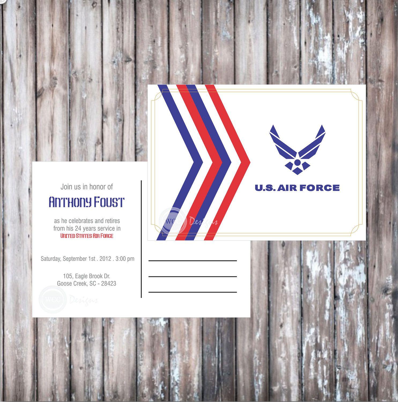 Air Force Wedding Ideas: AIR FORCE POSTCARD Invitation