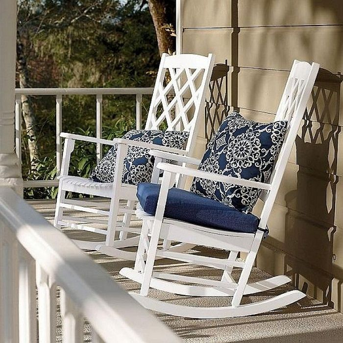 Outdoor Rocking Chair Seat Cushions Rocking chair porch