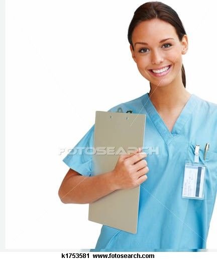 Stock Photography Of Young And Confident Nurse Smiling On A White