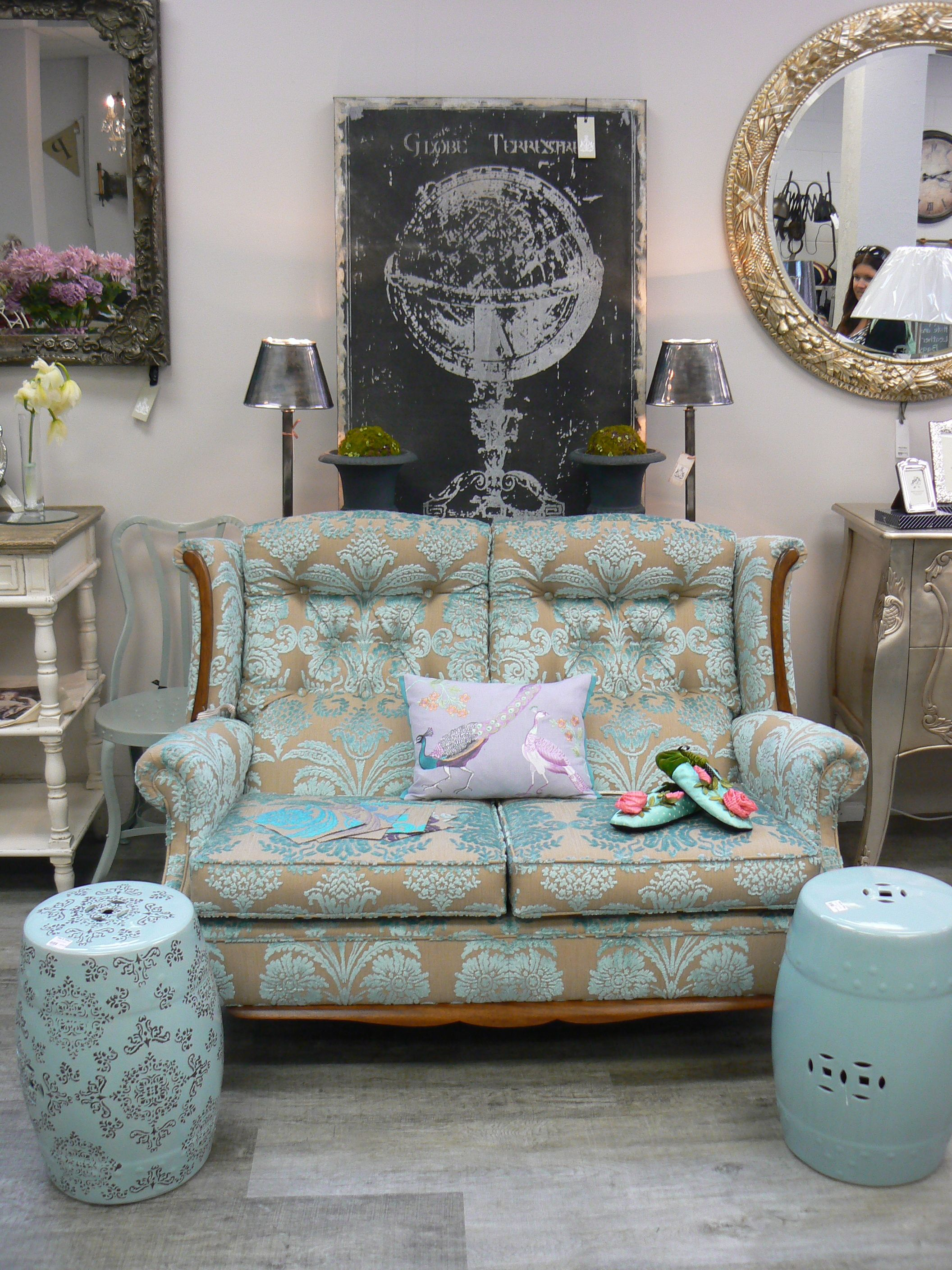 Dreamy Old Couch Reupholstered In Designers Guild