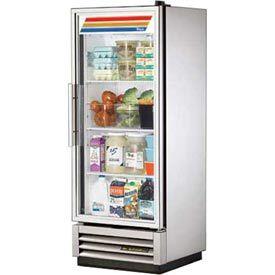 True 174 Refrigerator Reach In 1 Section 24 7 8 W X 23 3 8 D X 63 1 8 H T 12g Glass Door Refrigerator Refrigerator Glass Door Fridge
