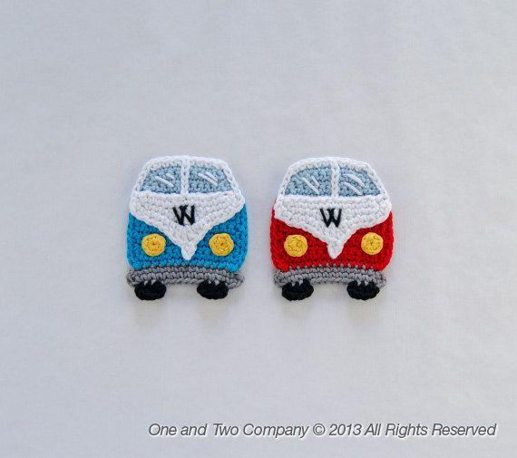 VW Camper Van Applique   PDF Crochet Pattern  by oneandtwocompany, $3.75