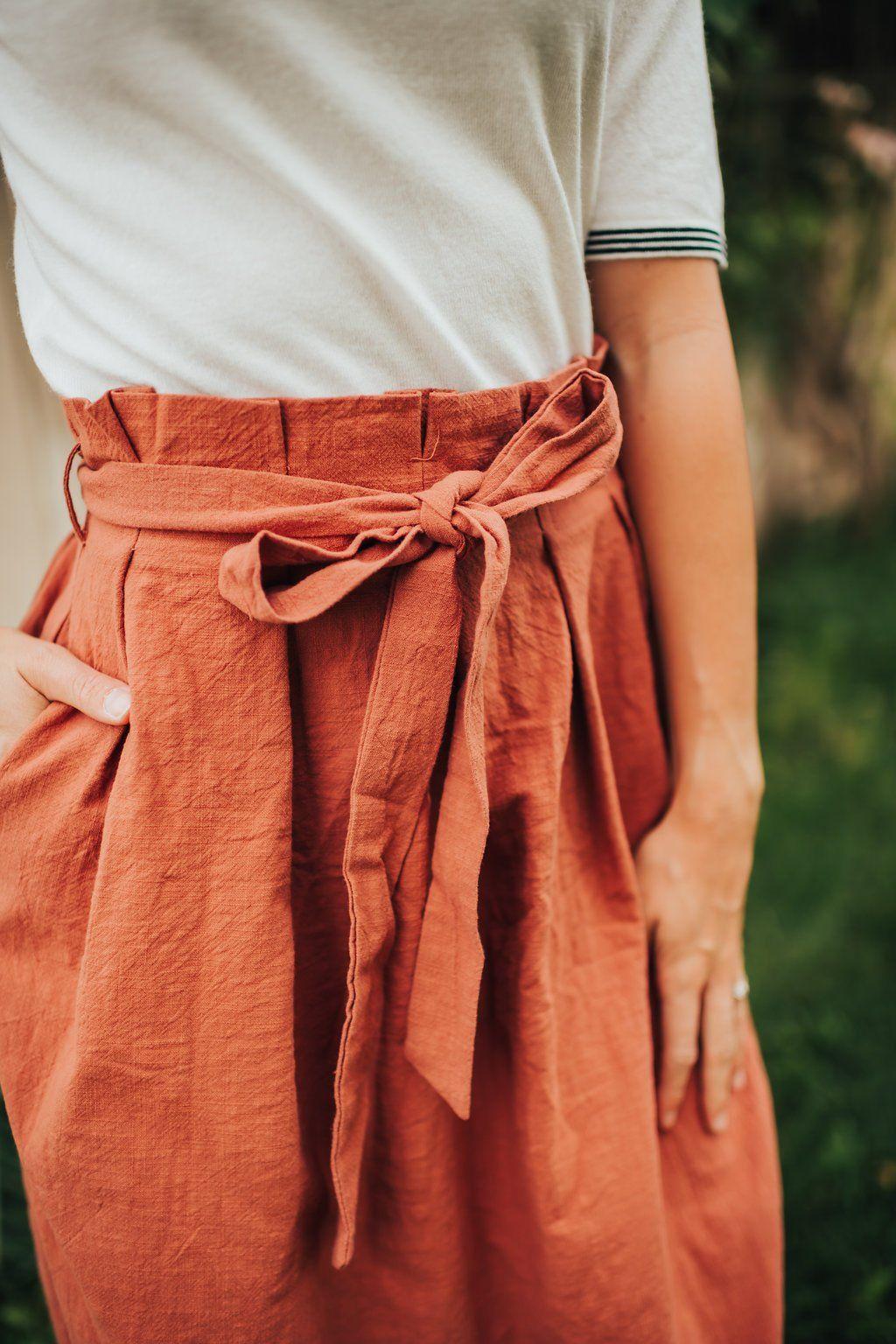 Bostyn skirt in rust citrus lemon jackets men