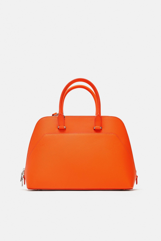 Image 1 of MONOCHROME ORANGE SATCHEL from Zara   Fashion   Pinterest ... be5d123d53