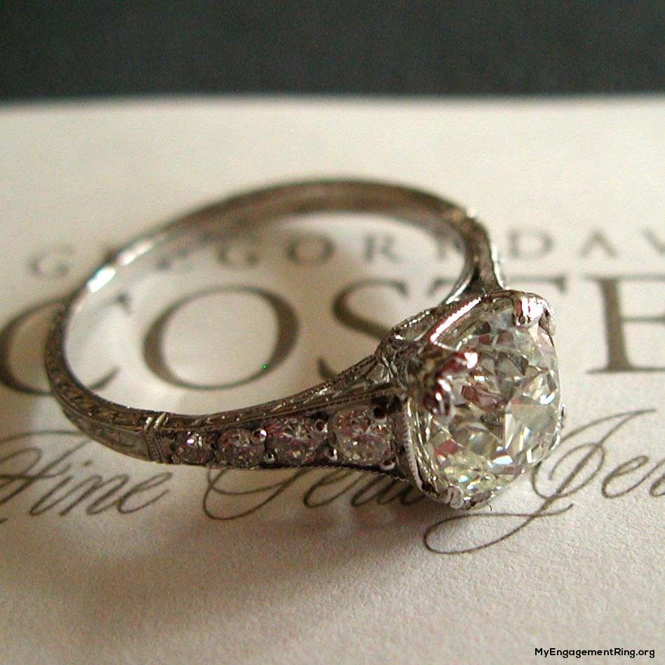 Antique Diamond Engagement Ring I Could Make A Board