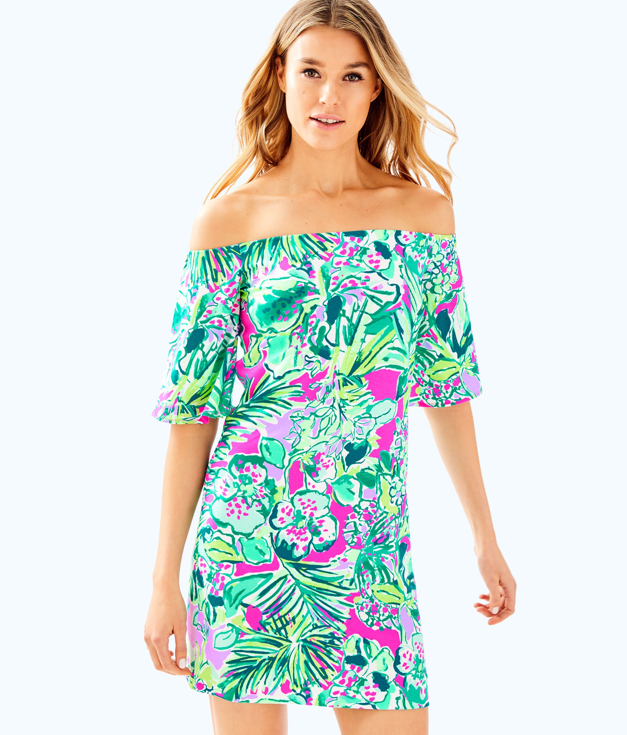 48bf594f2572ee Lilly Pulitzer Fawcett Off The Shoulder Dress - XXS | Products ...