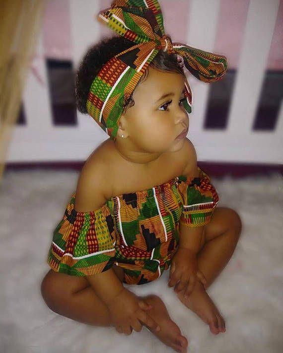 41cbc468e4bf26 African Kente print girls baby toddler romper bodysuit bubble gift Ghana -  Pink Alligator Boutique