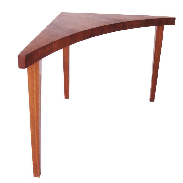 American 1960 S Modern Tall Corner Table By Milo Baughman