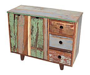 Mobile a 2 ante e 3 cassetti in legno di mango New York ...