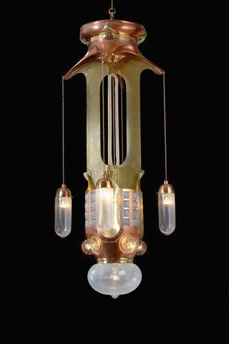 A chandelier designed by the belgian artist henry van de velde is now in the carnegie museum of art in pittsburgh