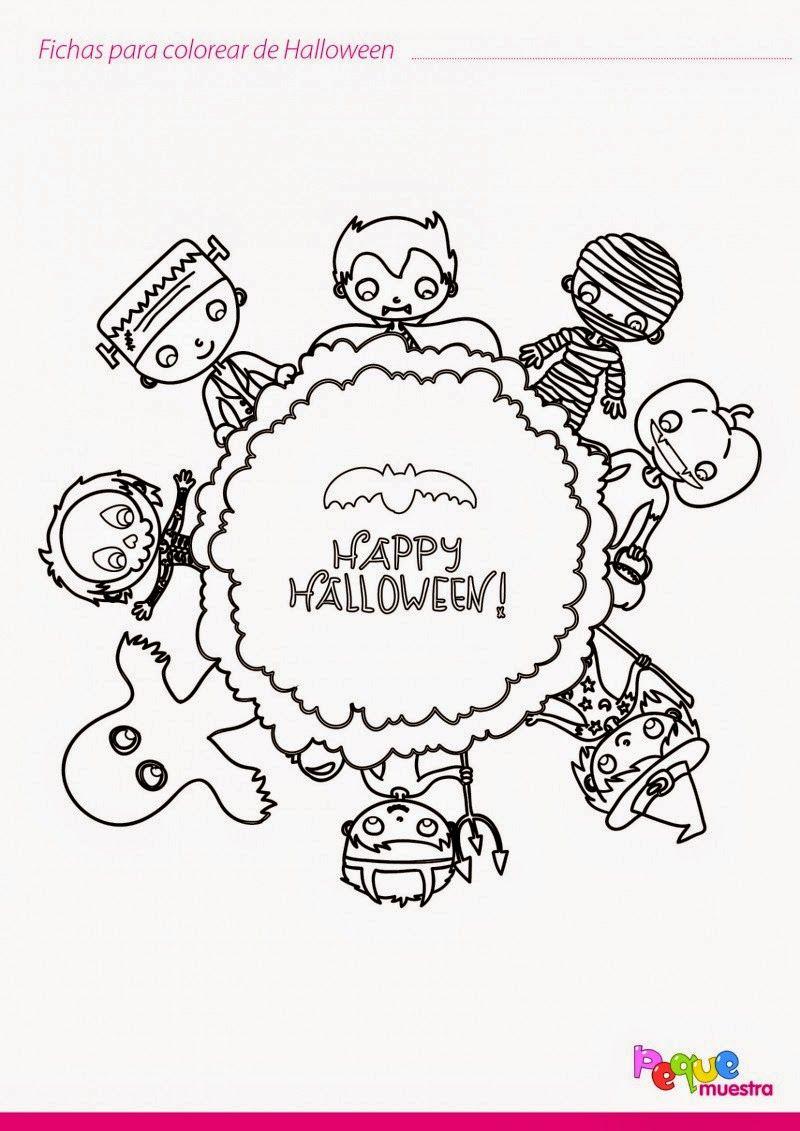 Halloween para colorear (Tertulias de Maestr@s)   Halloween para ...