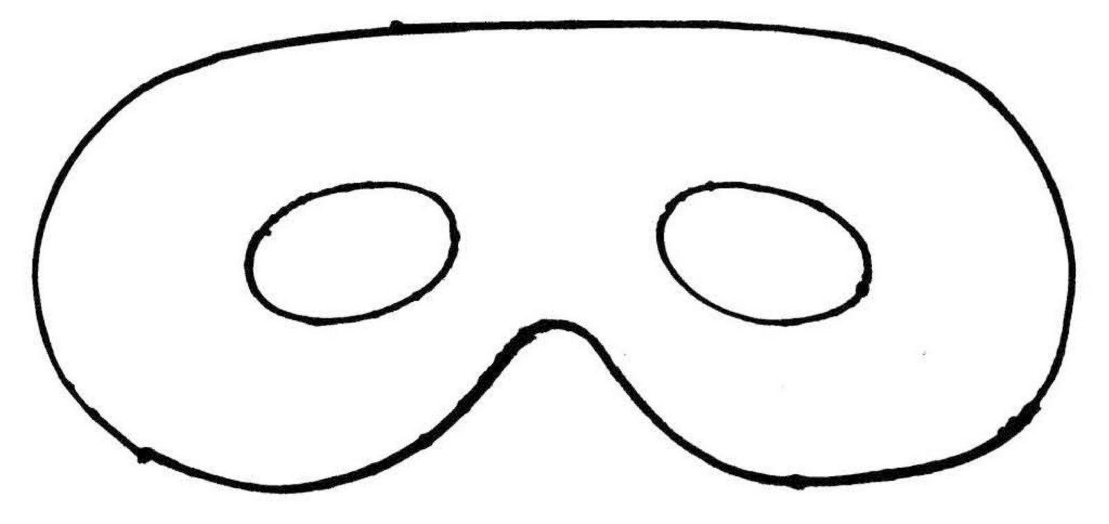Mask Outline With Plain Mask Template Printa Ble Heart Shape