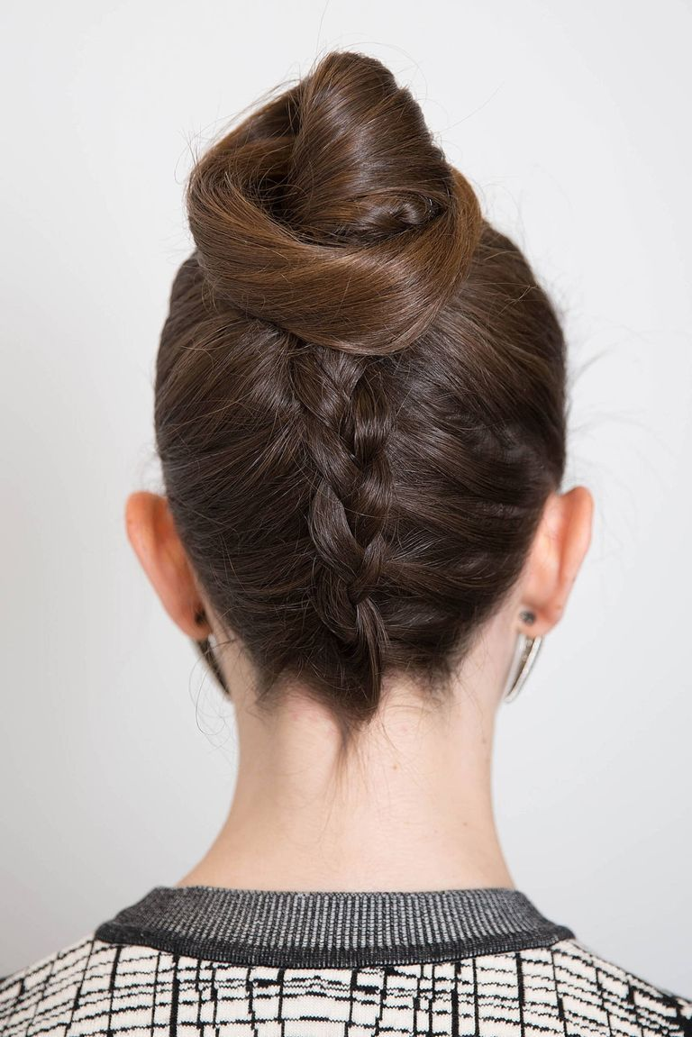 Fashion week Braided French hairstyles flourish pictures for lady