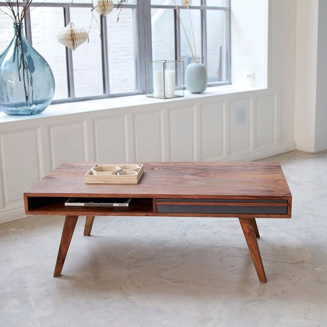 Table Basse En Bois De Palissandre 115x60 Niels Table Basse Table Basse Bois Table Vintage
