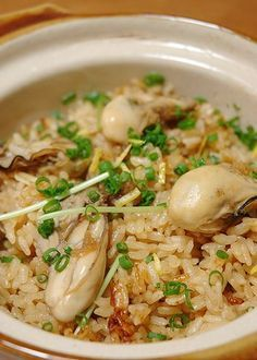 Oyster rice 牡蠣めし(カキ飯)