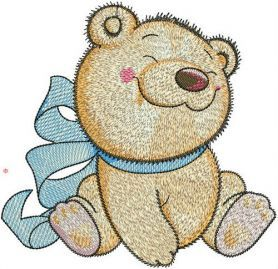 Bear toy machine embroidery design. Machine embroidery design. www.embroideres.com #beartoy
