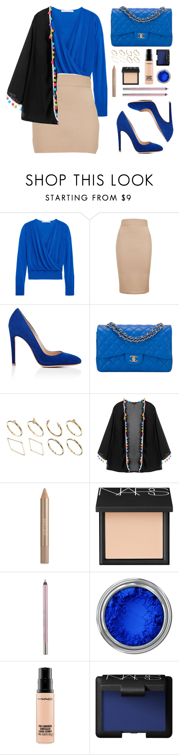 """""""Ilona"""" by toppingu ❤ liked on Polyvore featuring Diane Von Furstenberg, Topshop, Gianvito Rossi, Chanel, ASOS, Estée Lauder, NARS Cosmetics, Urban Decay and MAC Cosmetics"""