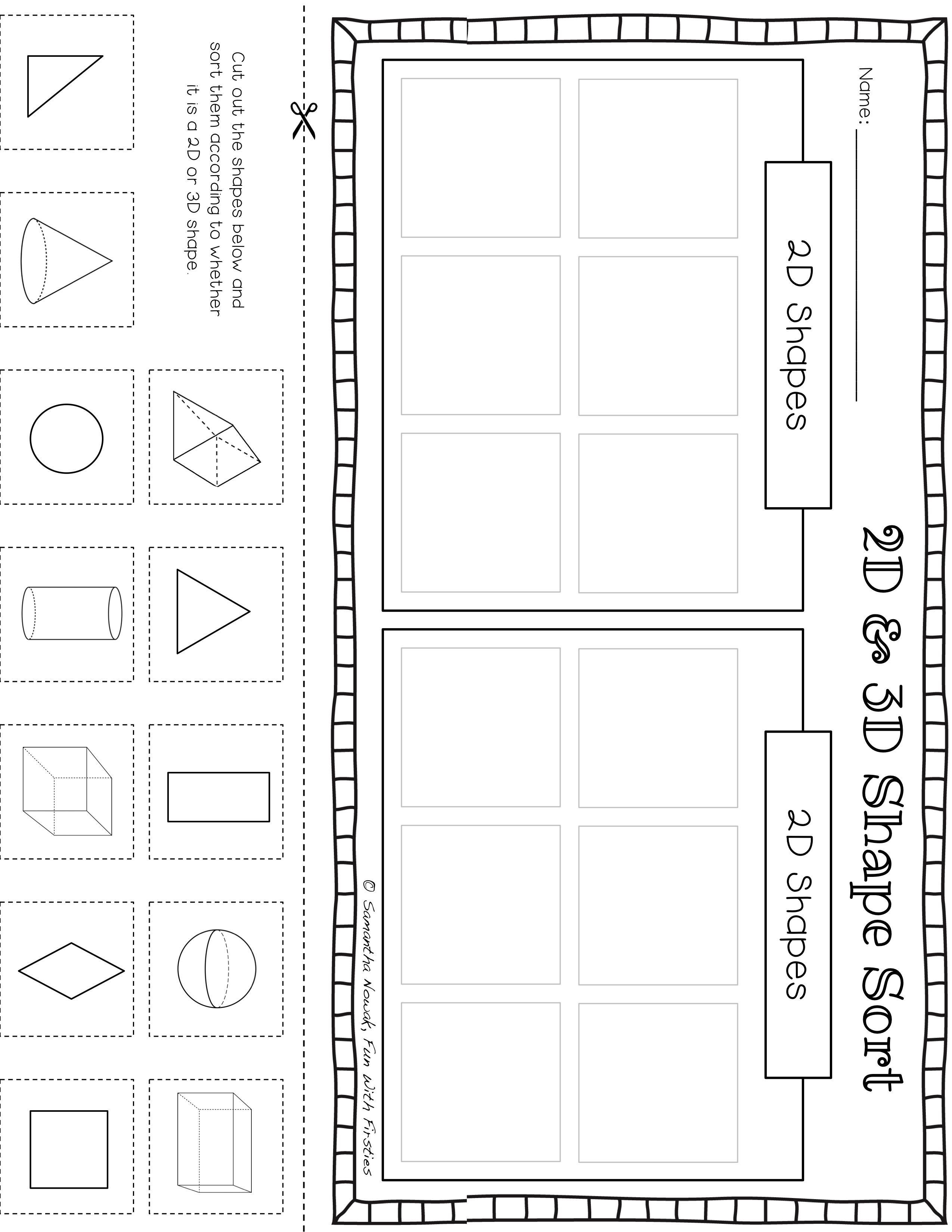 Print Amp Go 2d Amp 3d Geometry Practice Worksheets