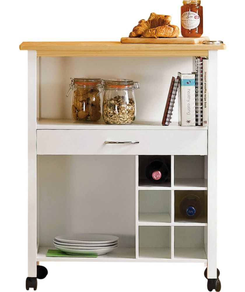Buy Living Kitchen Trolley With Wine Rack White At Argos