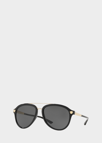 1f2d977760d Grey Medusa Luxe Sunglasses - Versace Sunglasses
