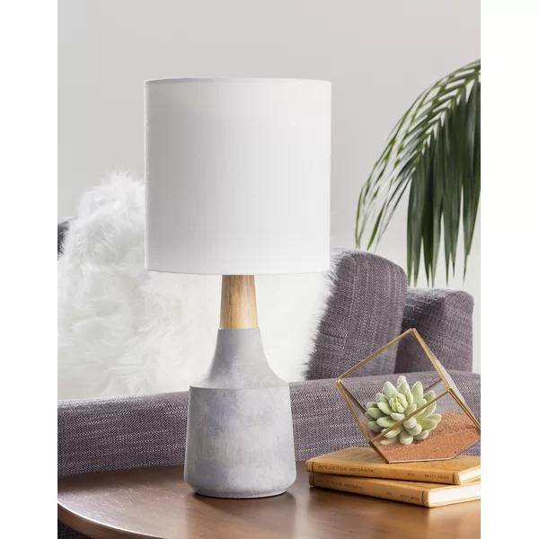 White Manhattan Block Table Lamp + 13