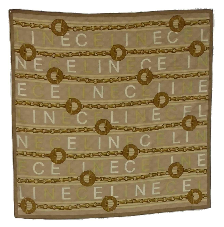 Celine Cotton Jacquard Vintage Scarf Kerchief by PastPrezence on Etsy