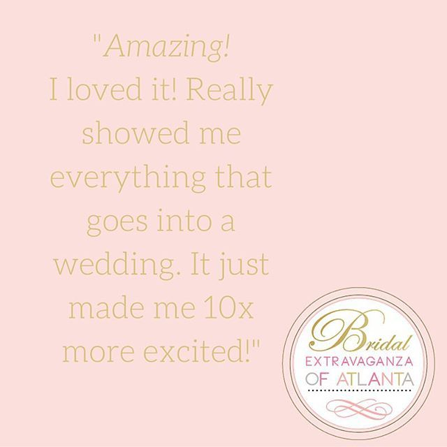 Bridal Extravaganza of Atlanta is a can't-miss event! #beabride #bridalextravaganzaatlanta #bridalshow Join us on 1/29/17