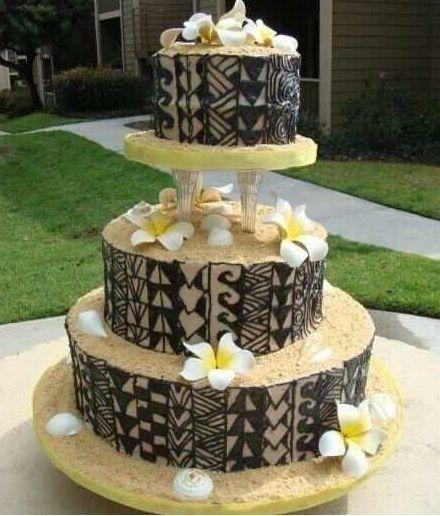 Tongan samoan wedding cakes