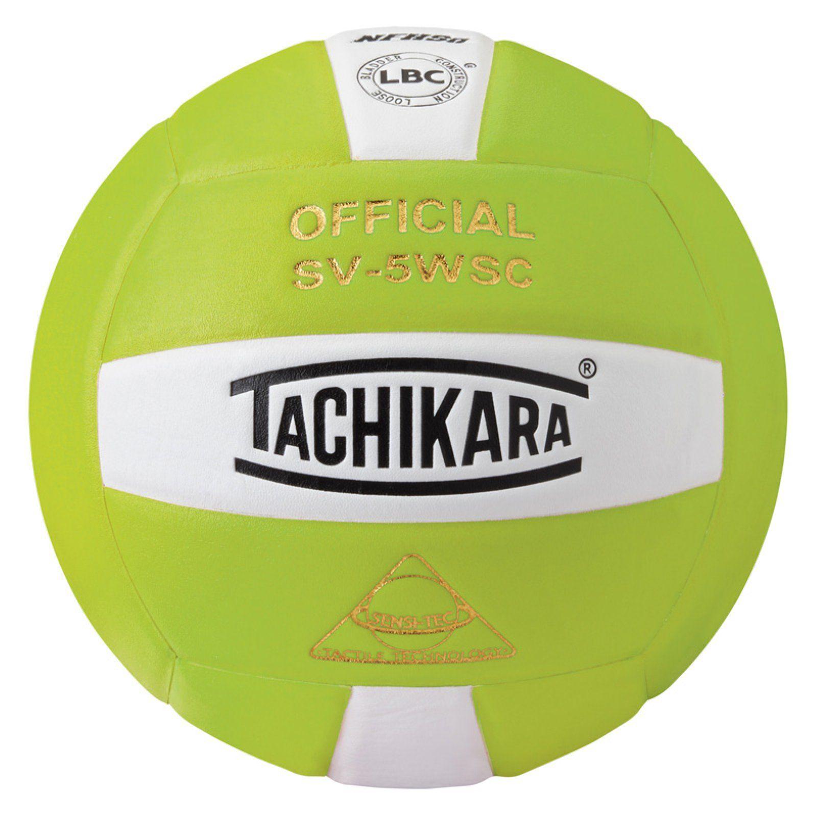 Tachikara Volley Lite Training Volleyball Lime Green White Indoor Volleyball Volleyball Volleyballs