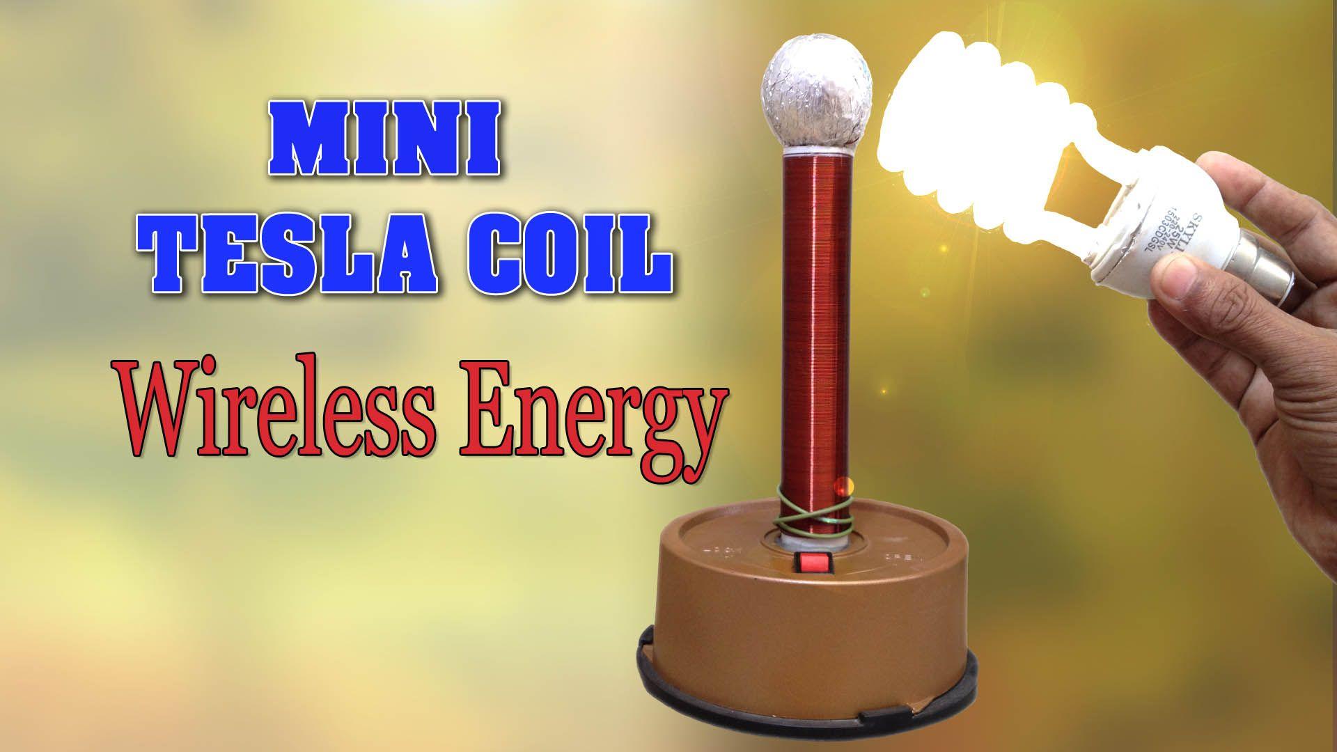 Mini Tesla Coil DIY Homemade Wireless Energy - TRONICSpro ...