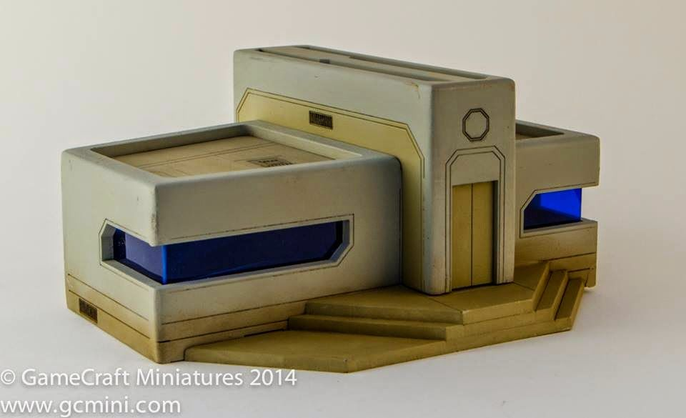 Tabletop Fix Gamecraft Miniatures More 15mm Scifi Buildings Scifi Building Minecraft Designs Architecture Model House