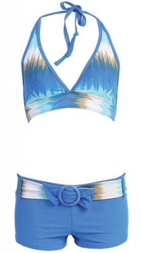 c42bab2cb6e17 Womens swimsuit, MW Swimwear Set, Halter w/ Boyshorts, « Clothing Adds  Anytime