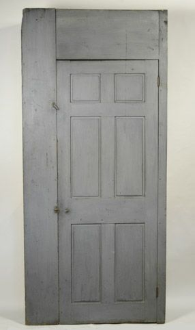 C1850 Single Door Cupboard In Blue Grey Paint With Images