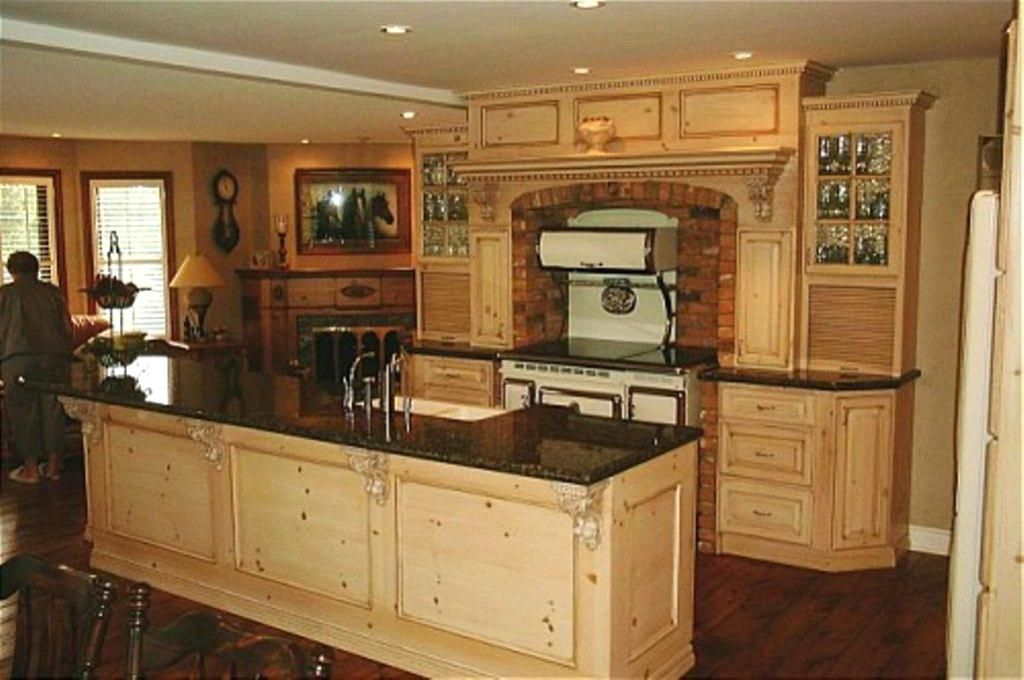 Image Result For Distressed Pine Kitchen Cabinets For The Home