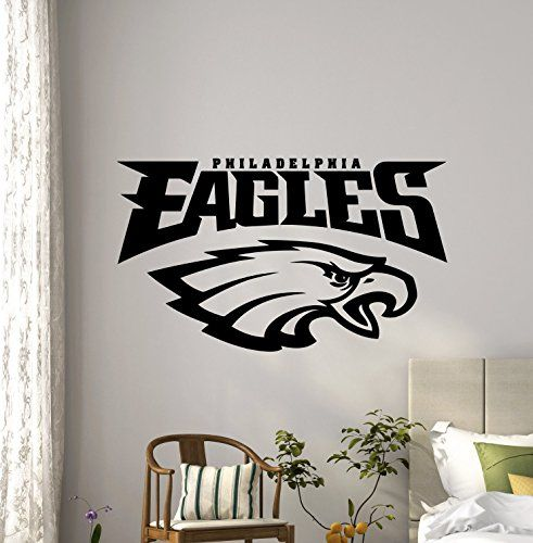 NCAA Philadelphia Eagles Wall Decals Sports Football Club Emblem Kids Children Poster Stencil Decor Sports Vinyl Sticker Home Art Design Removable Mural ... & NCAA Philadelphia Eagles Wall Decals Sports Football Club Emblem ...