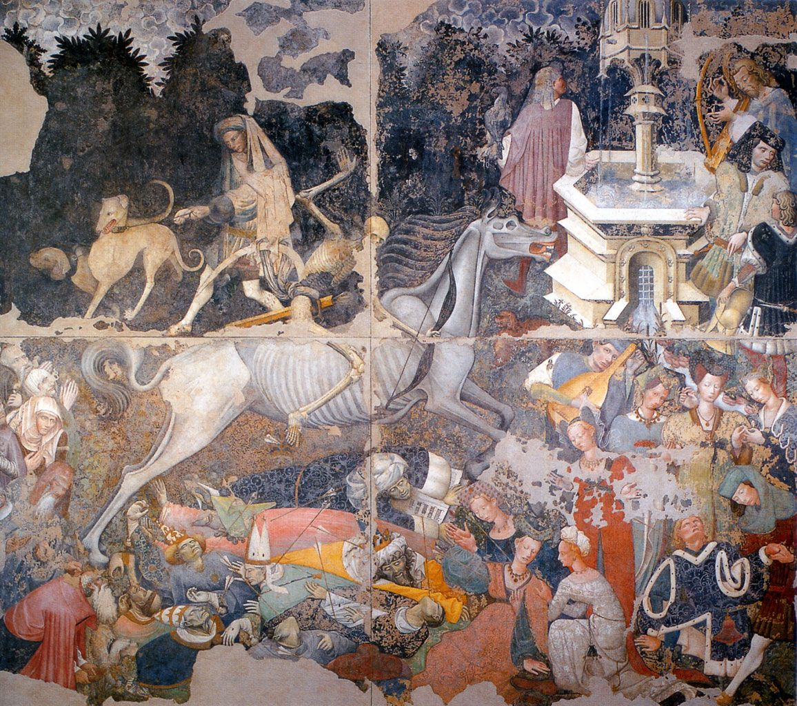 Trionfo della Morte c. 1446-49, fresco, artist unknown. Palermo, Sicily.