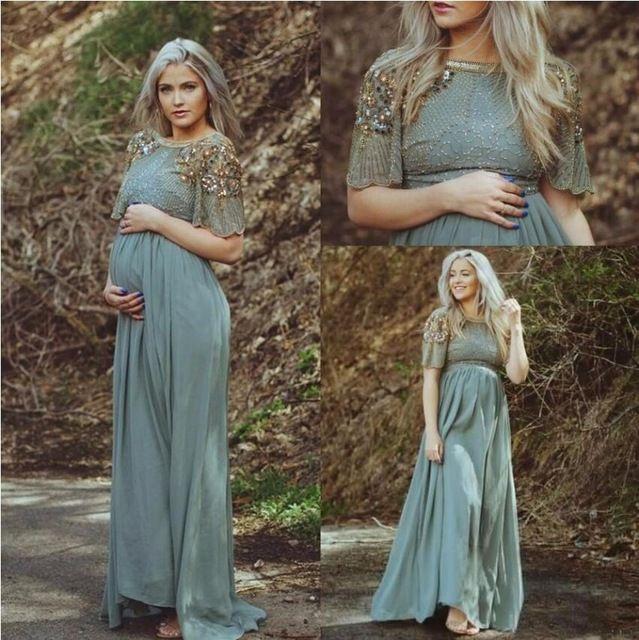 Arabic Pregnant Evening Dress 2016 Formal Turkish Islamic Muslim ...