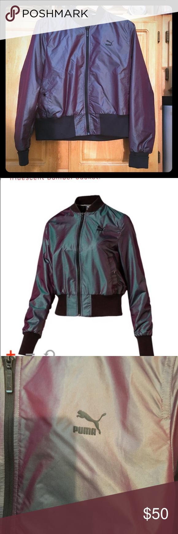 e7d6da388eca PUMA iridescent bomber jacket- sz. XL