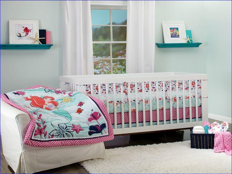 Buy Disney Ariel Sea Treasures 3 Piece Crib Bedding Set At Walmart Com Rollback Disney Princess The Little Mermaid Wall Decals 10 Ct Package 9 2 Day Ship