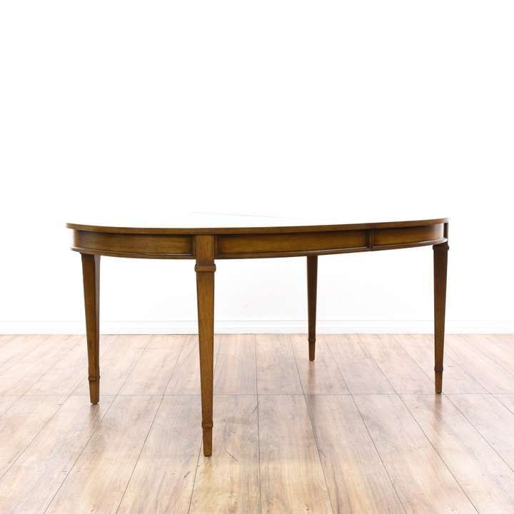 Traditional Oval Dining Table W Leaves Loveseat Is The Best Way - Dining table with 3 leaves