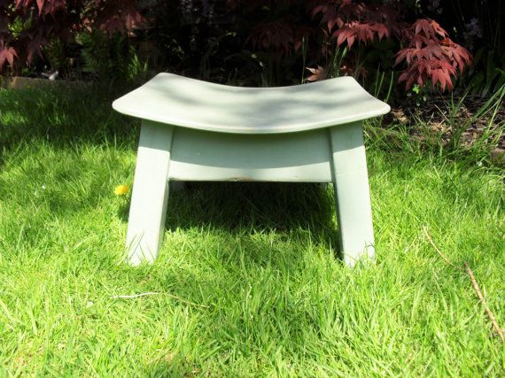 Vintage Wooden STOOL /Shabby Chic /Rustic/ by BigGirlSmallWorld