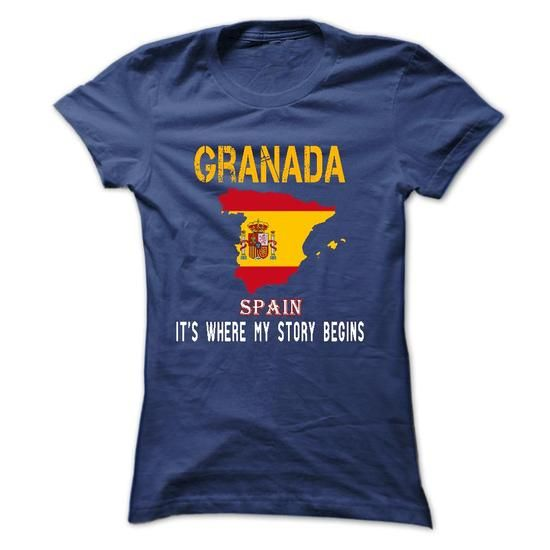 GRANADA - Its where my story begins! - #blusas shirt #baja hoodie. LIMITED TIME PRICE => https://www.sunfrog.com/States/GRANADA--Its-where-my-story-begins-60068846-Ladies.html?68278