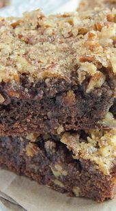Candied Pecan Brownies  food and soul