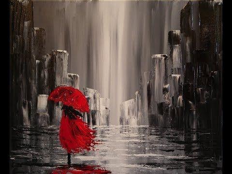 Acrylmalerei abstract acrylic painting demo abstraktes bild malen spachteln spackle youtube - Einfache acrylbilder ...