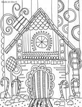 Gingerbread House Free Coloring Page  SecondGradeSquadcom