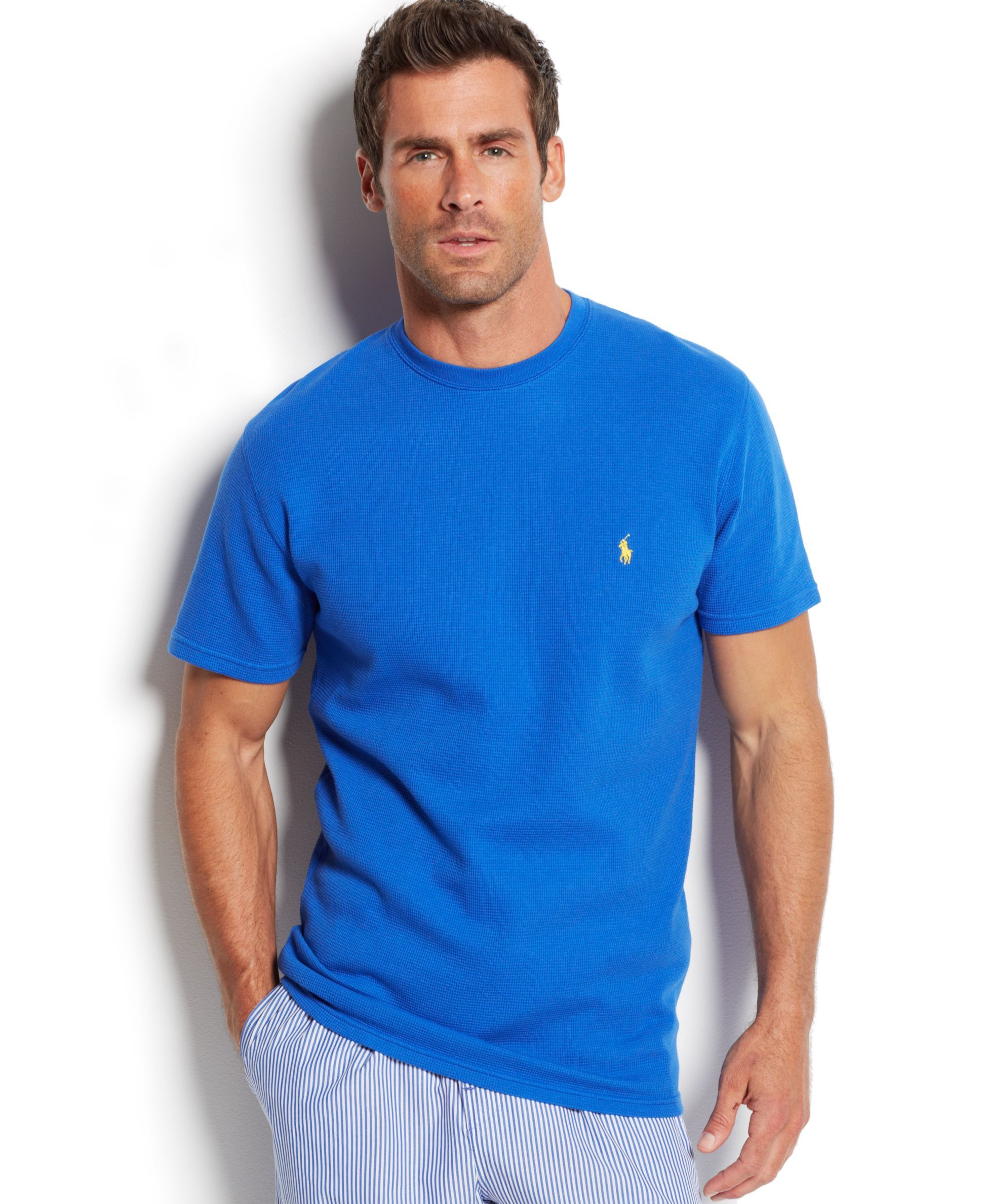 Polo Ralph Lauren Waffle Knit Thermal Crew Neck T Shirt