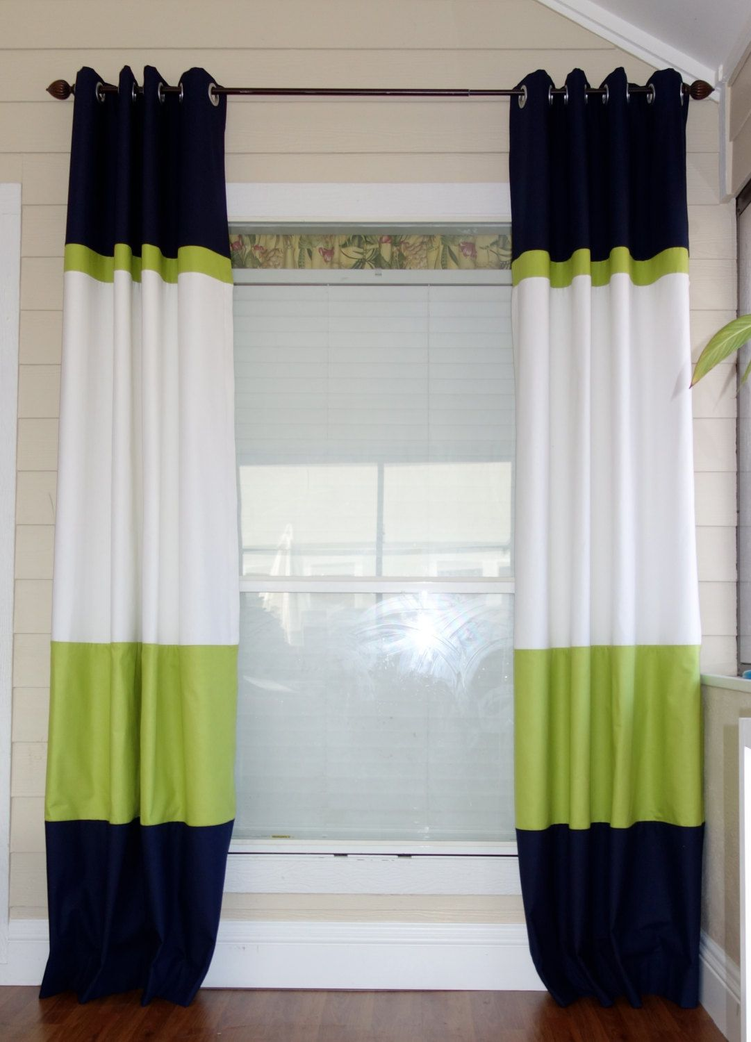 Bookmark share more from curtains by colour blue curtains blue - Color Block Curtain Panels Love This Idea For The Sliding Glass Door With A Shower